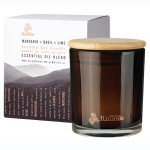 Mandarin, Basil and Lime Soy Wax Candle 400g