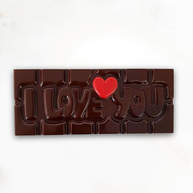 'I love you' Belgian Dark Chocolate Bar 40g