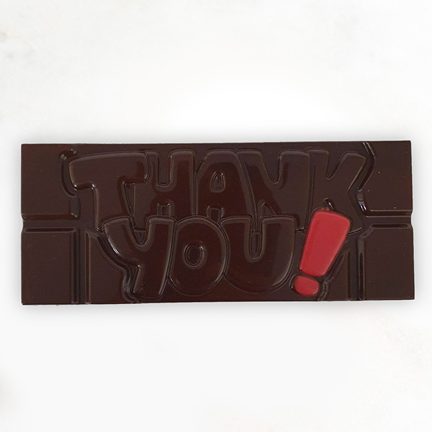 'Thank you' Belgian Dark Chocolate Bar 40g