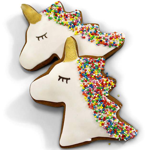 Handmade Gingerbread Iced Biscuit - Unicorn