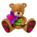 Daisy Teddy Bear with Flower 16cm