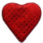 Red Romeo Milk Chocolate Heart Large 25g x 2