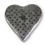 Romeo Milk Chocolate Heart in Silver Large 25g x 2