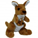 Kangaroo with Joey 17cm