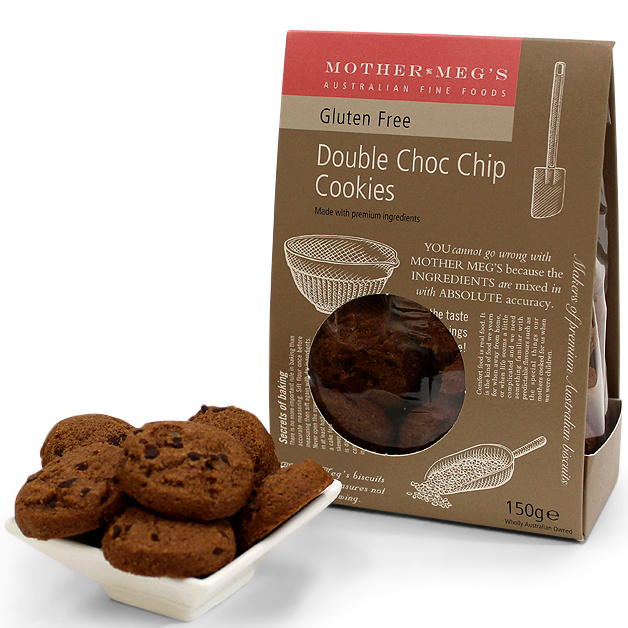 Mother Megs Double Choc Chip Cookies 150g