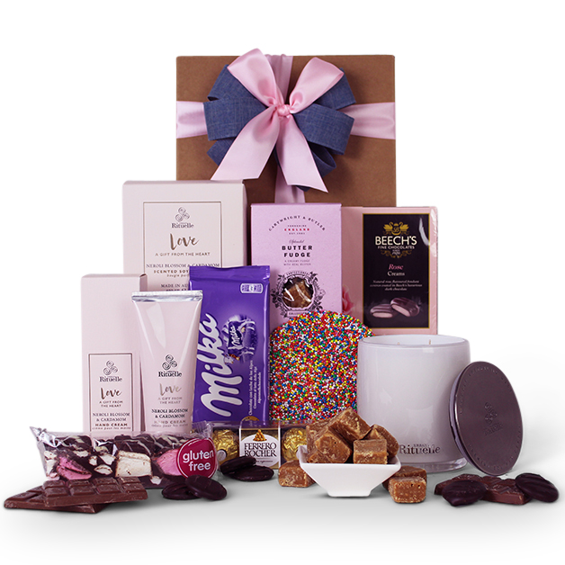 Sending love gift hamper gift baskets click image to enlarge 14995 description gift basket content negle Choice Image