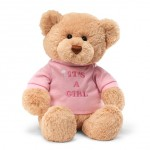 Gund Message Teddy Bear - Its a Girl 30cm