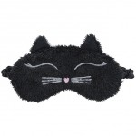 Little Faces Eye Mask- Black Cat