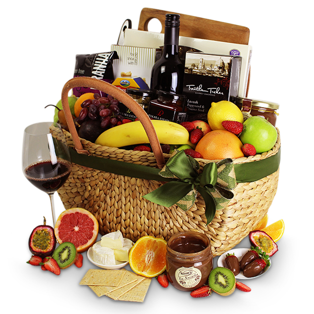 Picnic basket wine gifts