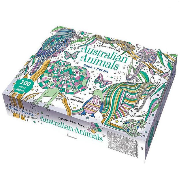 Colour Your Own - Australian Animals & Puzzle