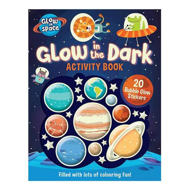 Glow In Space Activity Sticker Book