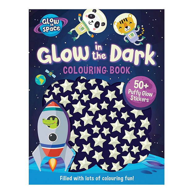 Glow In Space Colouring Sticker Book