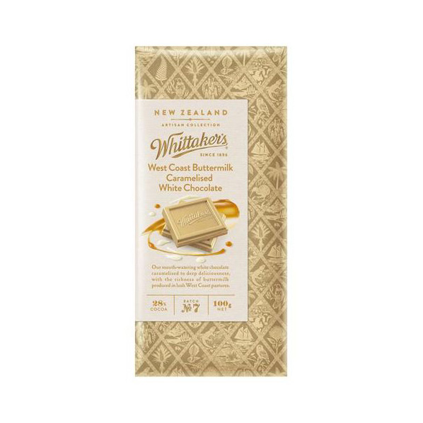 Whittaker's West Coast Buttermilk Caramelised White Chocolate 100g