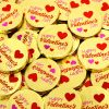 'Happy Valentines Day' Chocolate Medallions x 3