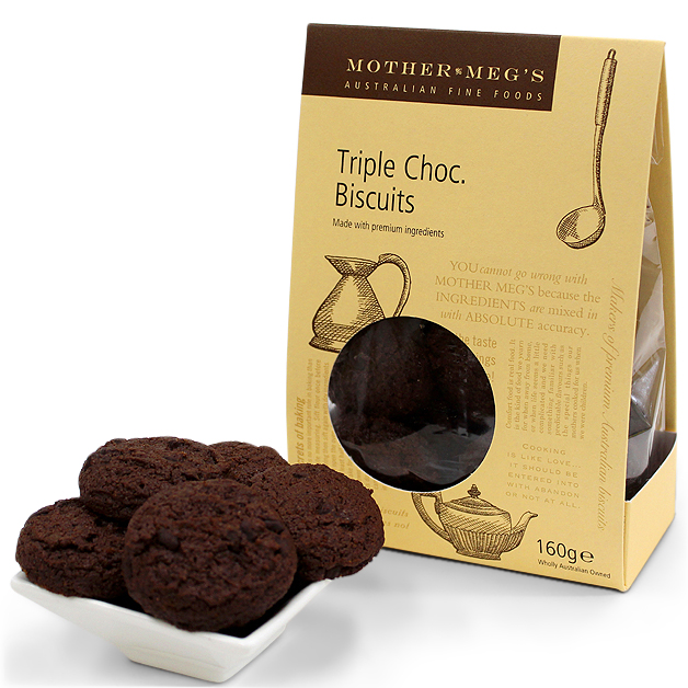 Mother Megs Triple Chocolate Biscuits 150g