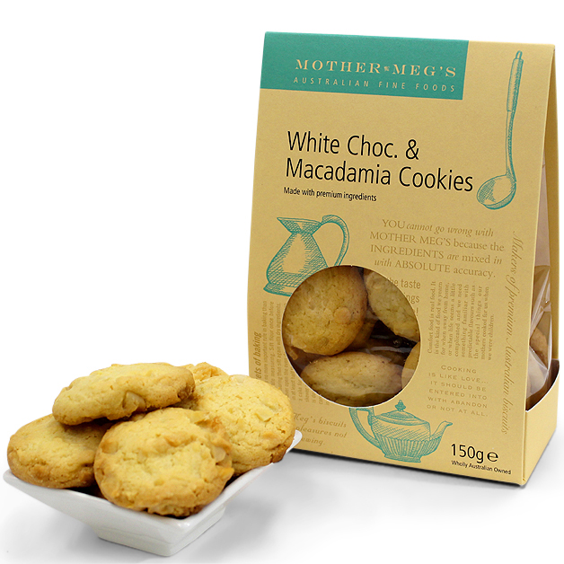 Mother Megs White Chocolate & Macadamia Nut Cookies 150g