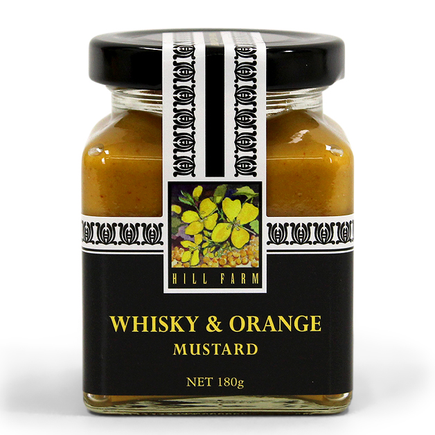 Hill Farm Whisky & Orange Mustard 180g