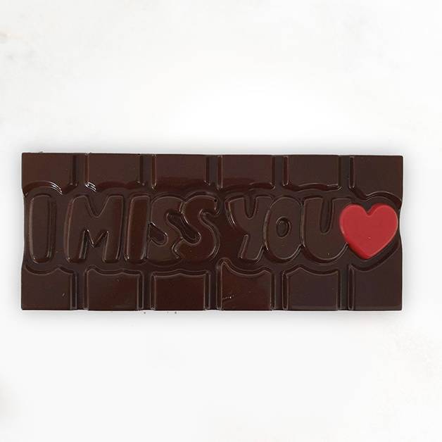 'I miss you' Belgian Dark Chocolate Bar 40g