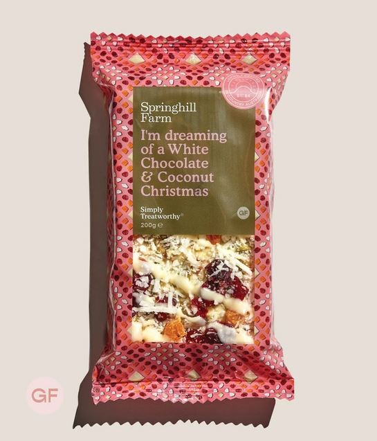 Springhill Farm White Chocolate & Coconut Christmas Slice 200g