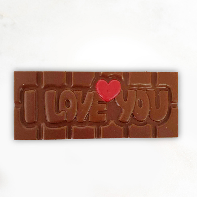 'I love you' Belgian Milk Chocolate Bar 40g