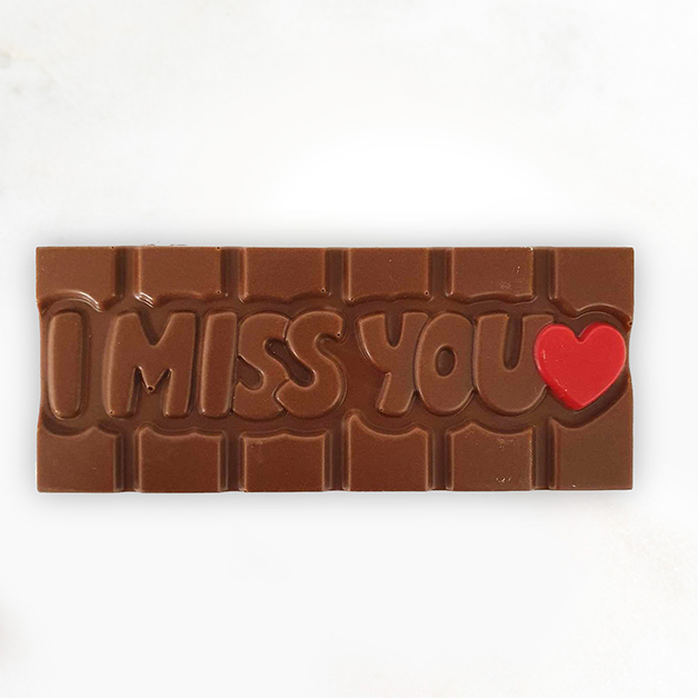 'I miss you' Belgian Milk Chocolate Bar 40g