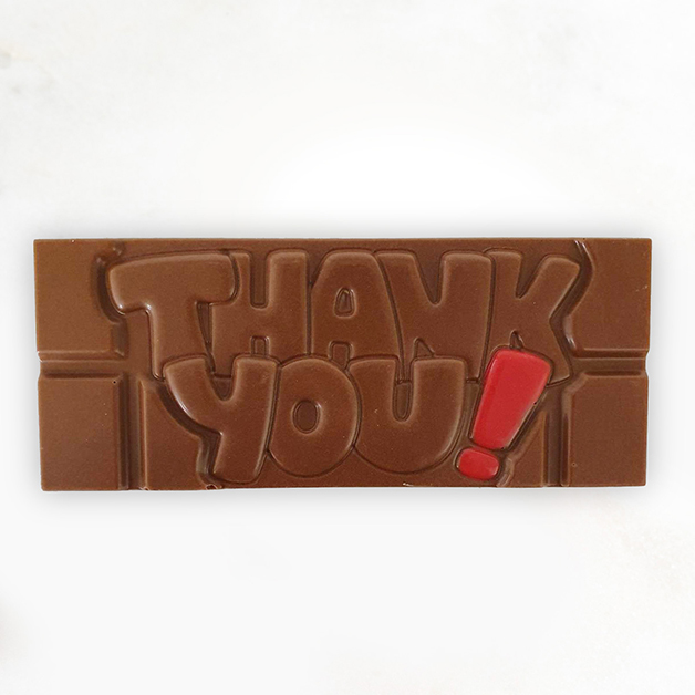 'Thank you' Belgian Milk Chocolate Bar 40g