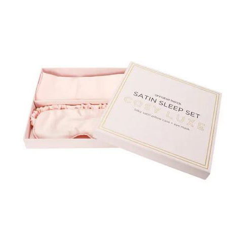 Cosy Luxe Satin Sleep Set Pink - Pillowcase & Eyemask