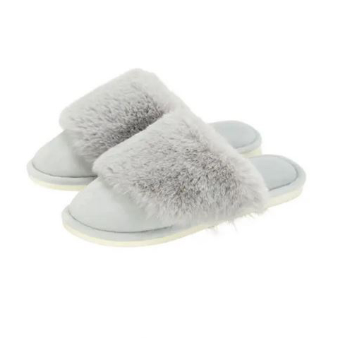 Cosy Luxe Slippers - Grey M/L
