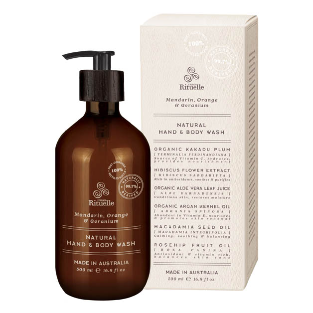 Mandarin, Orange & Geranium Natural Hand & Body Wash 500ml