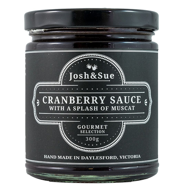 Josh & Sue's Cranberry Sauce with Muscat 300g