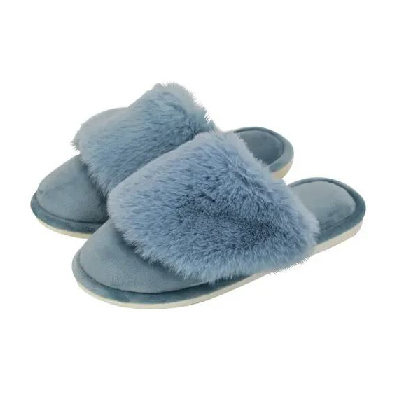 Cosy Luxe Slippers - Dusty Blue S/M