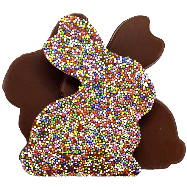 Milk Chocolate Easter Bunny with Sprinkles 100g