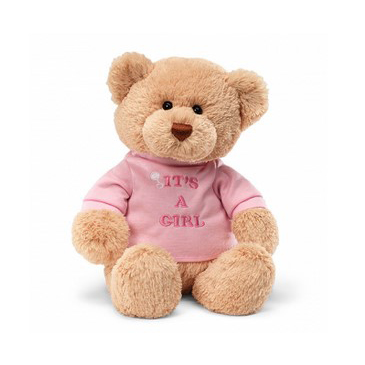 'It's A Girl' Plush Teddy 28cm