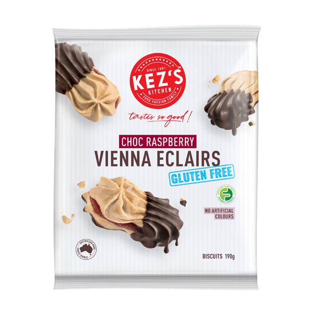 Kez's Kitchen Chocolate & Raspberry Vienna Eclairs 190g (GF)