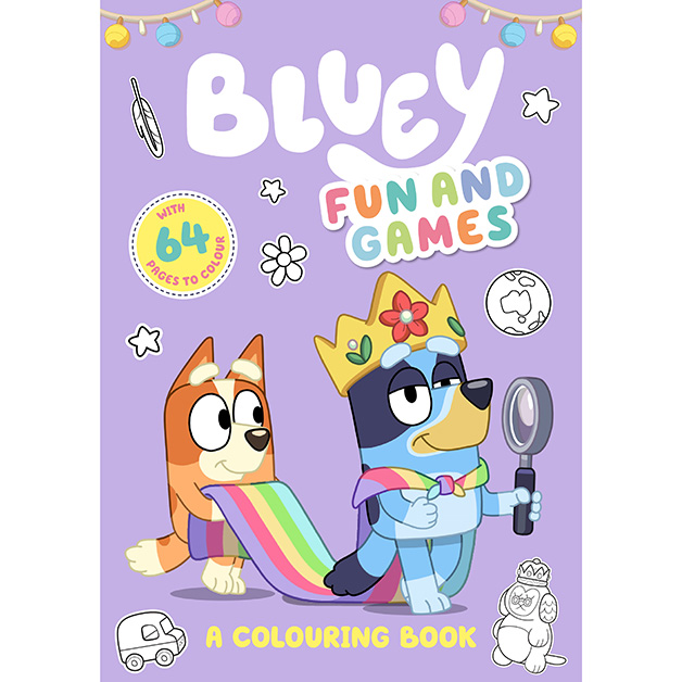 Bluey Fun & Games Colouring Book