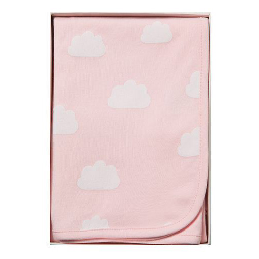 Emotion & Kids 100% Cotton Swaddle Blanket - Pink Clouds
