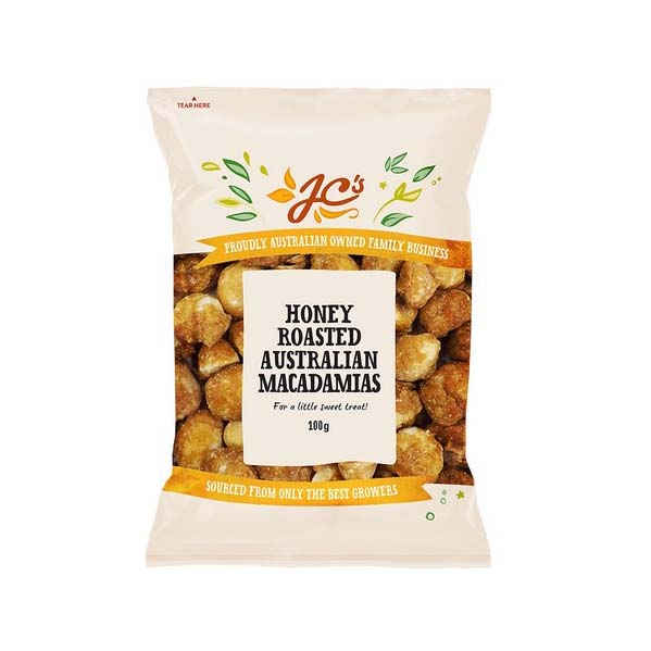 JC's Honey Roasted Macadamias 100g