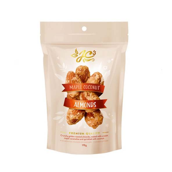 JC's Maple Coconut Coated Almonds 170g