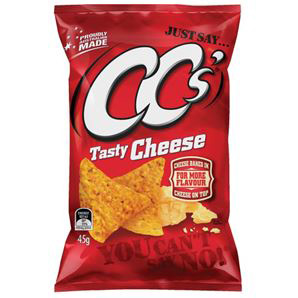 CCs Corn Chips - Tasty Cheese 45g