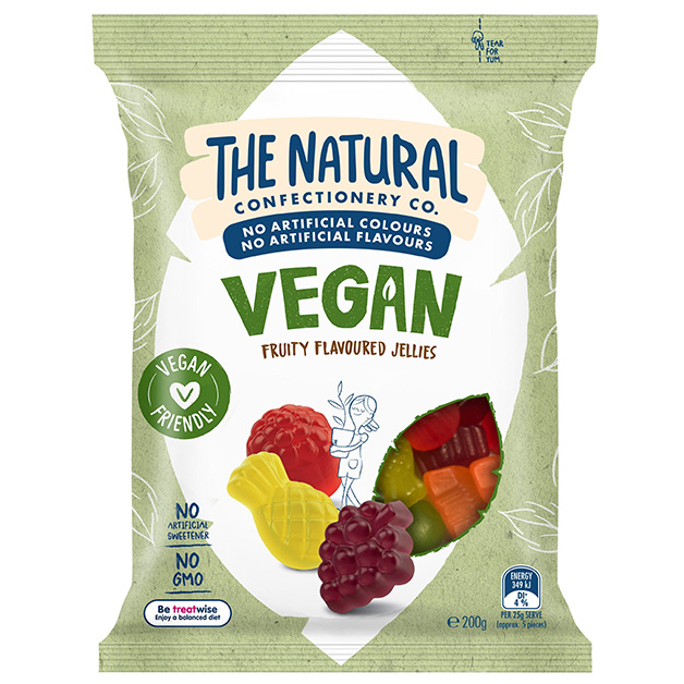 The Natural Confectionary Co. Vegan Fruity Jellies 200g